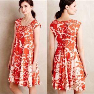 Anthropologie Indiga Swing Bird Print Maeve Dress